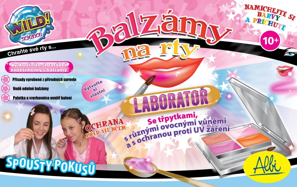 Albi Balzám na rty - laboratoř